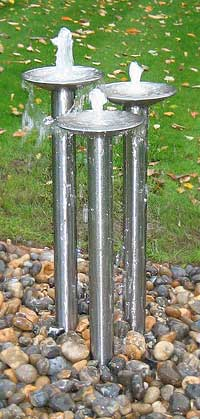 Stainless steel fountain ornament  (© aquapic)